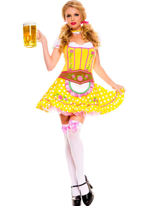 Yellow German Oktoberfest Dirndl Costume