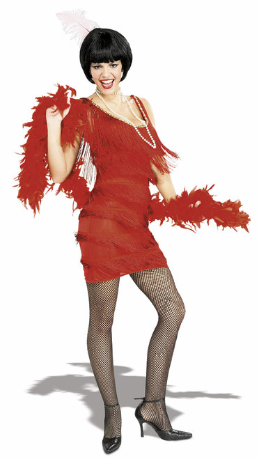 20s Roarin Red Flapper Costume