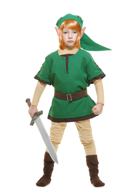 Elf Warrior Link Child Costume