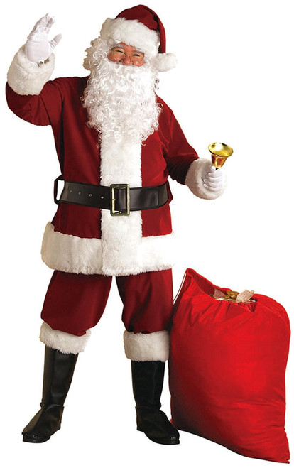 Super Deluxe Velvet Santa Suit Costume