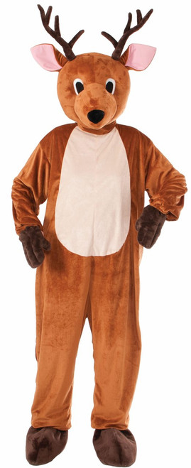 Adult Plush Reindeer Mascot Christmas Costume