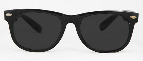 Thick Black Frame Brother Blues Sunglasses