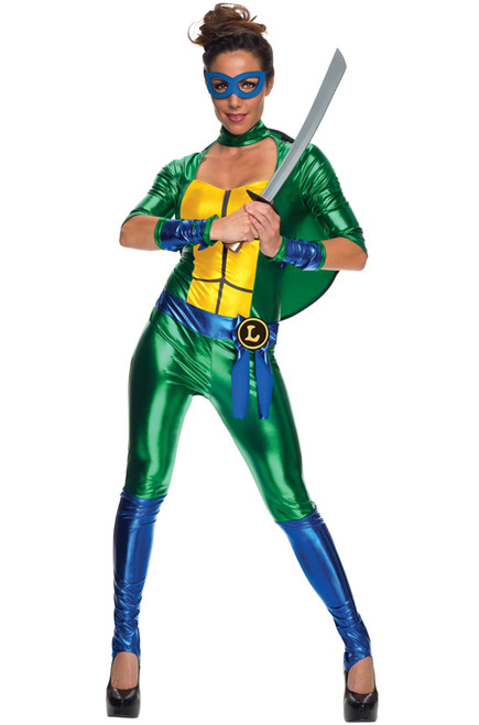 TMNT Leonardo Ladies Jumpsuit Costume