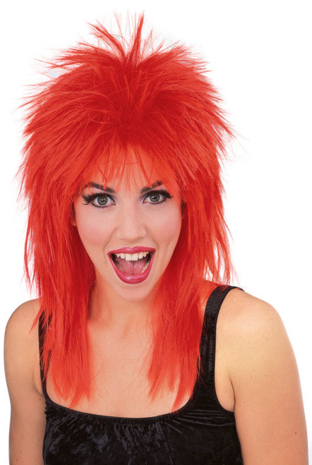 Red Super Star Sports Fan Wig