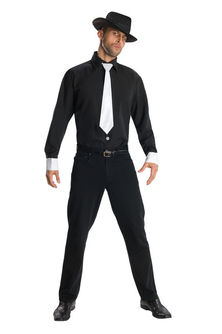 Mens Gangster Shirt and Hat Costume