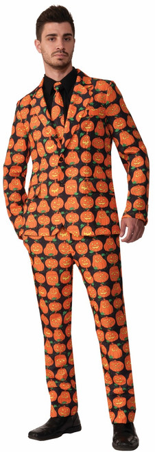 Mens Pumpkin Suit and Tie Costume