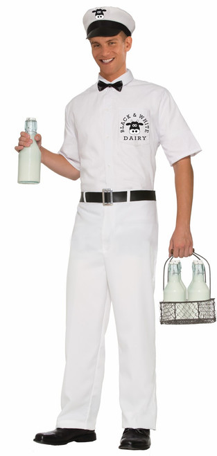 Mens 50s Milkman Halloween Costume