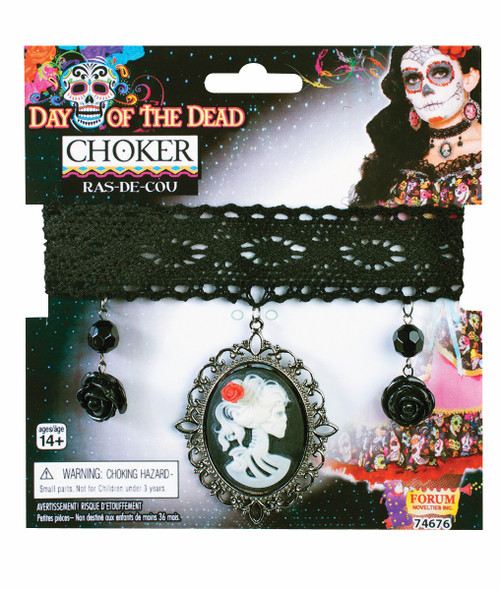 Day of the Dead Choker Cameo