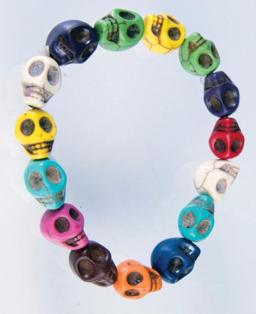 Colourful Skull Day of the Dead Bracelet