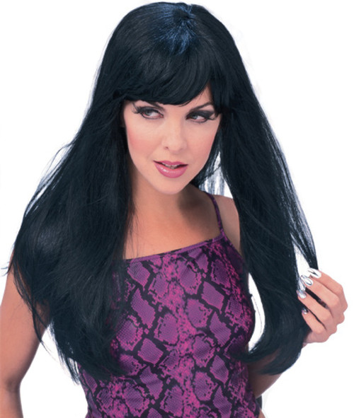 Long Glamour Wig - Black