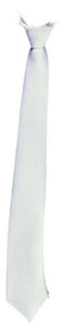 Gangster Long Tie in White