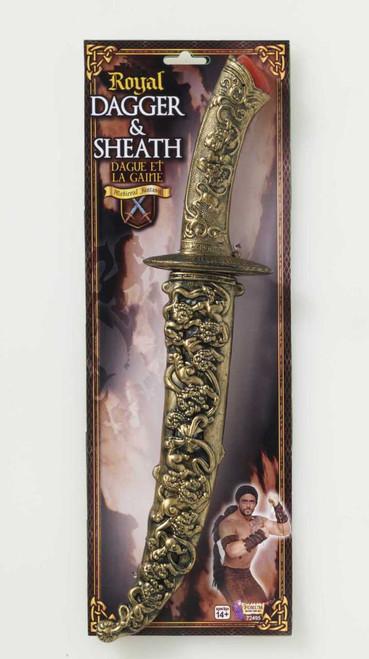 Medieval Fantasy Royal Dagger and Sheath