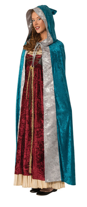 Blue Camelot Hooded Cape