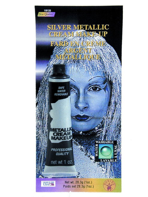 Silver Metalic Cream Face Paint