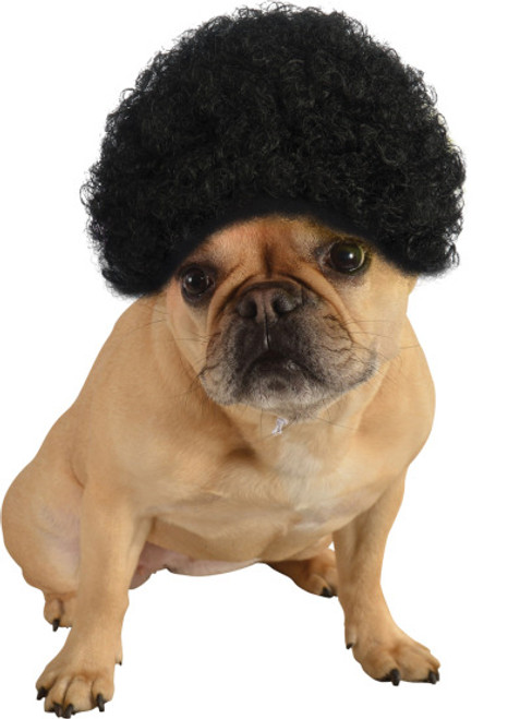 Black Afro Pet Wig Costume