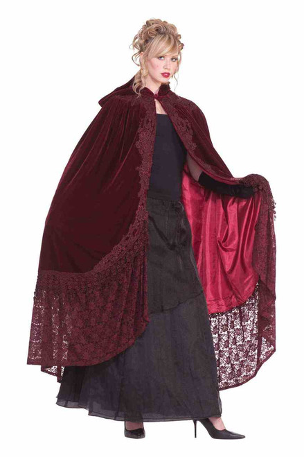 Burgundy Victorian Style Cape
