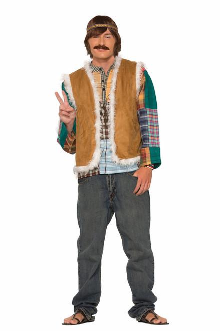 Unisex Hippie Fur Trimmed Vest