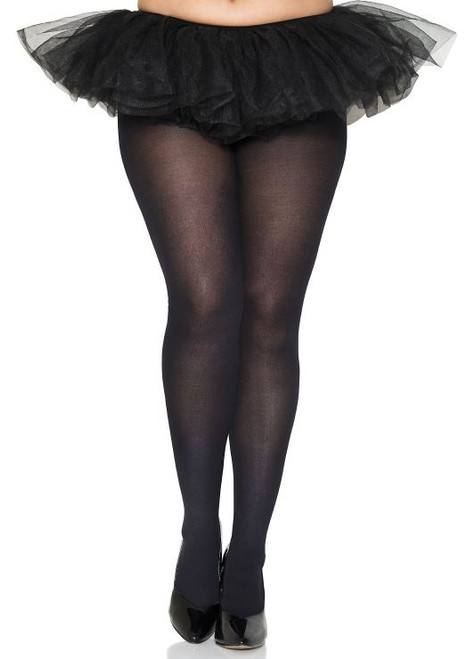 Queen Size Lycra Tights - Black