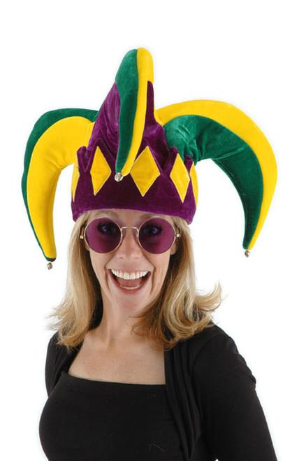 Purple Green Gold Mardi Gras Jester's Hat