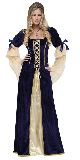 Midnight Blue Maiden Faire Medieval Ladies Costume