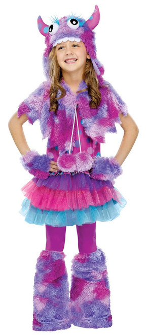 Children's Purple Polka Dot Monster Costume