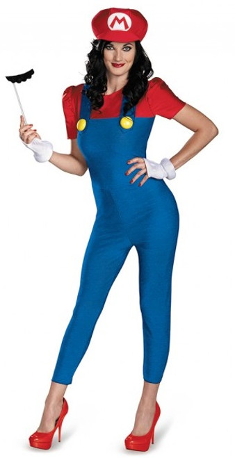 Mario-Lady Super Mario Bros. Costume - Plus Size