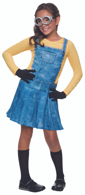 Kids Female Minion Halloween Costume