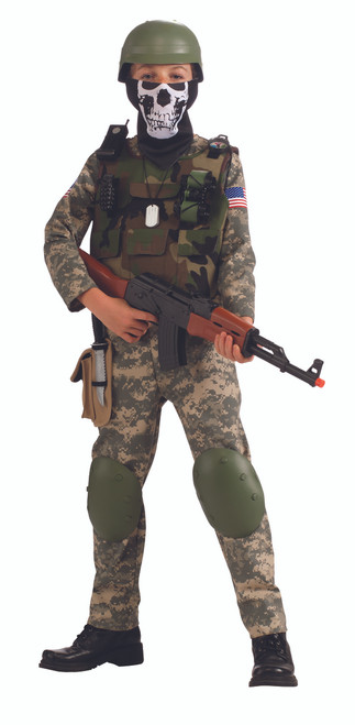Kids Camo Trooper Army Soldier Costume