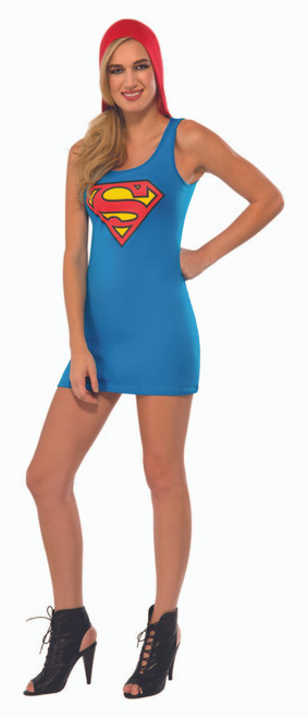 Supergirl Hooded Tank Dress
