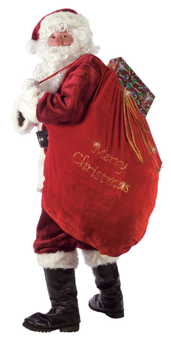 Embroidered Merry Christmas Santa Sack and Santa