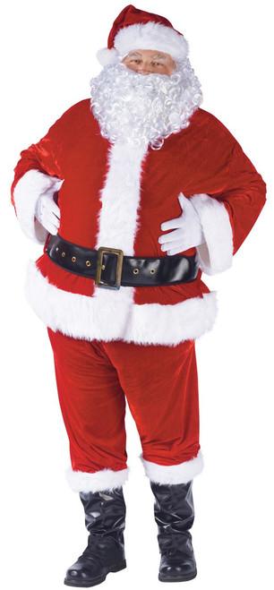 Plus Size Velour Santa Suit