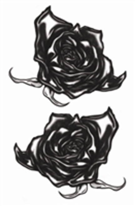 Vintage Black Roses Temporary Tattoo's