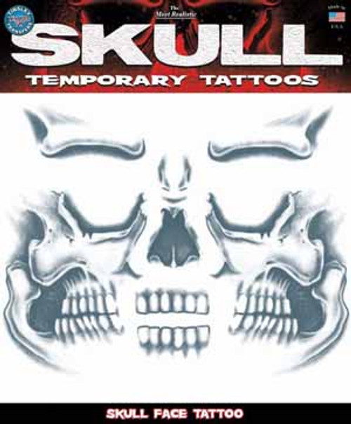 Skull Face Prison Temporary Tattoo