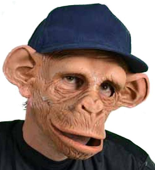 Realistic Chimpanzee Monkey Mask
