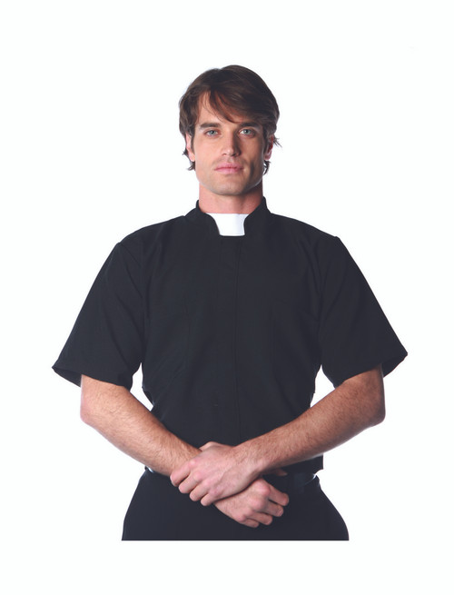 Men's Priest Costume Shirt