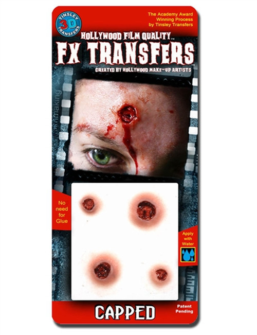 """""""Capped"""" Bullet Wounds Easy FX Transfer"""