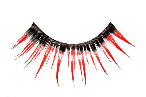 Red and Black Blacklight Eyelashes