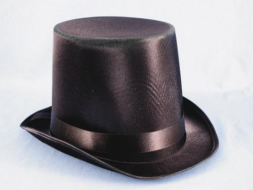 Black Satin Tall Top Hat