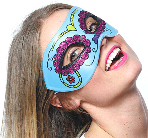 Day of the Dead Turquoise Mask