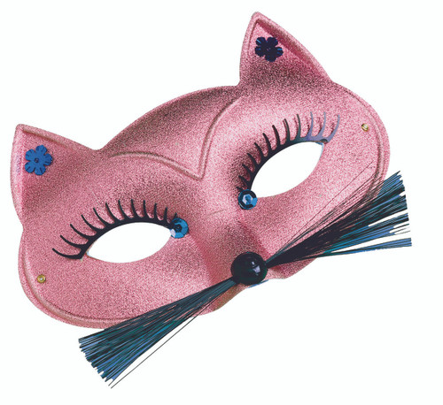 Pink Metallic Italian Cat Mask
