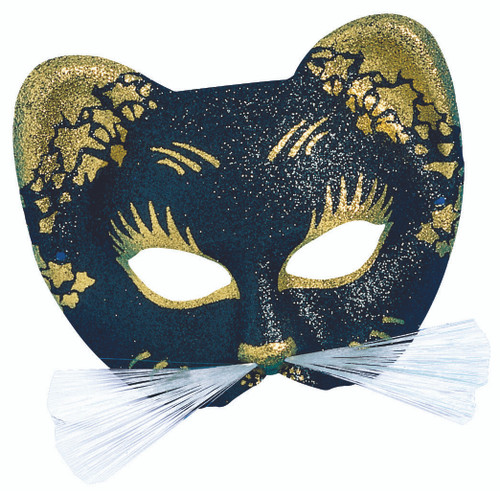 Gold Italian Gattoni Cat Mask