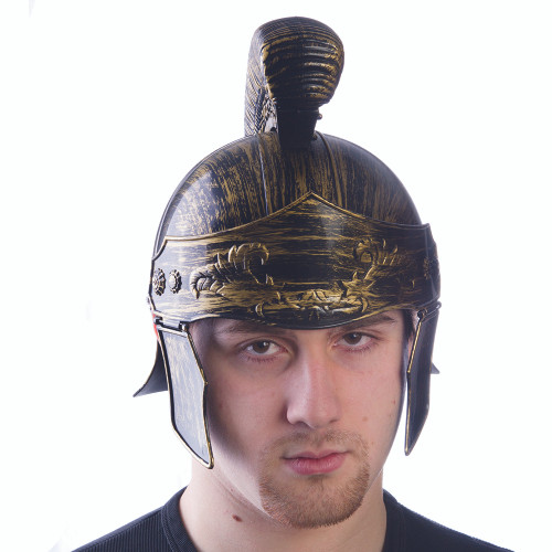 Antiqued Gold Roman Helmet