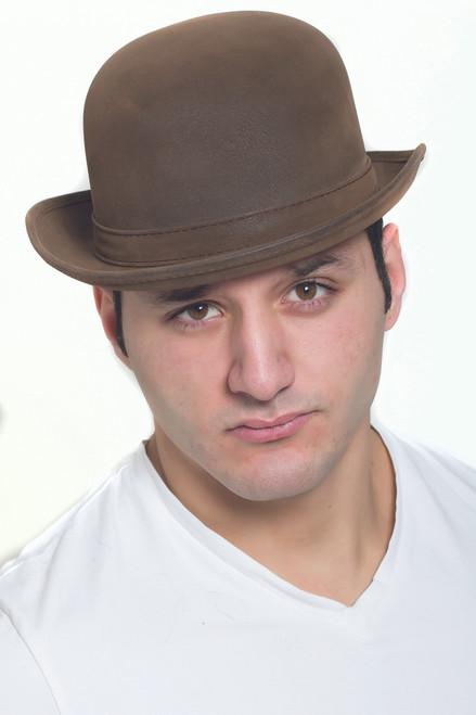 Leather-Like Steampunk Derby Hat