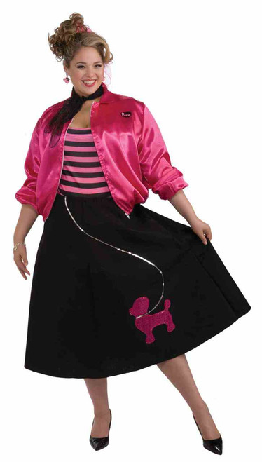 50s Sock Hop Poodle-Skirt Costume - Plus Size