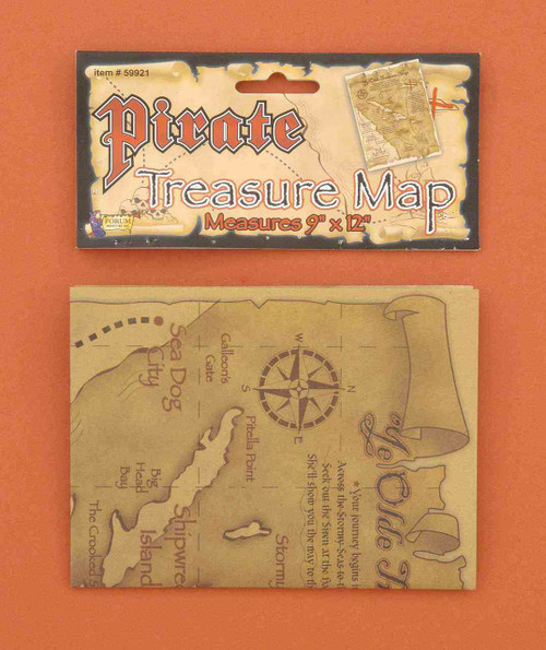 Pirate Secret Treasure Map