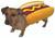 Pet Hot Dog Dog Costume