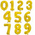 Gold Foil Number Balloon - Individual Numbers 0-9 at The Costume Shoppe