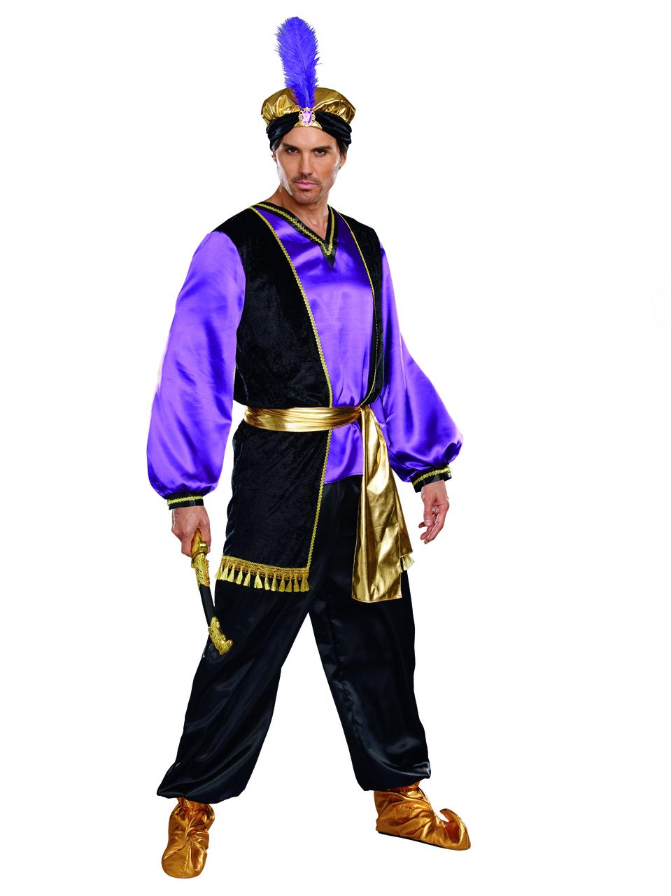 Gold Desert Prince Belt Sash  Aladdin Halloween Adult Costume Accessory