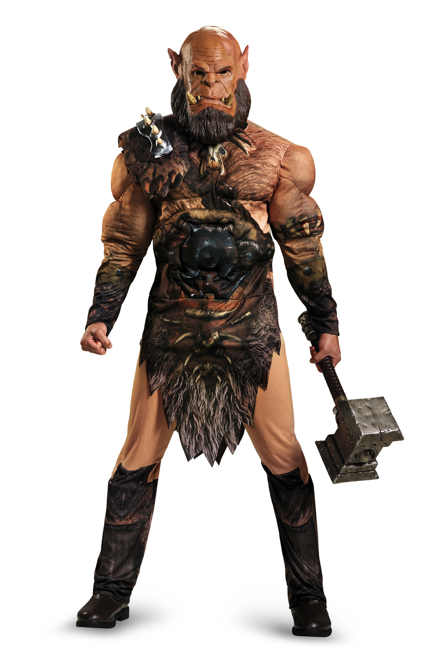 Boys Warcraft Muscle Durotan Orc Costume