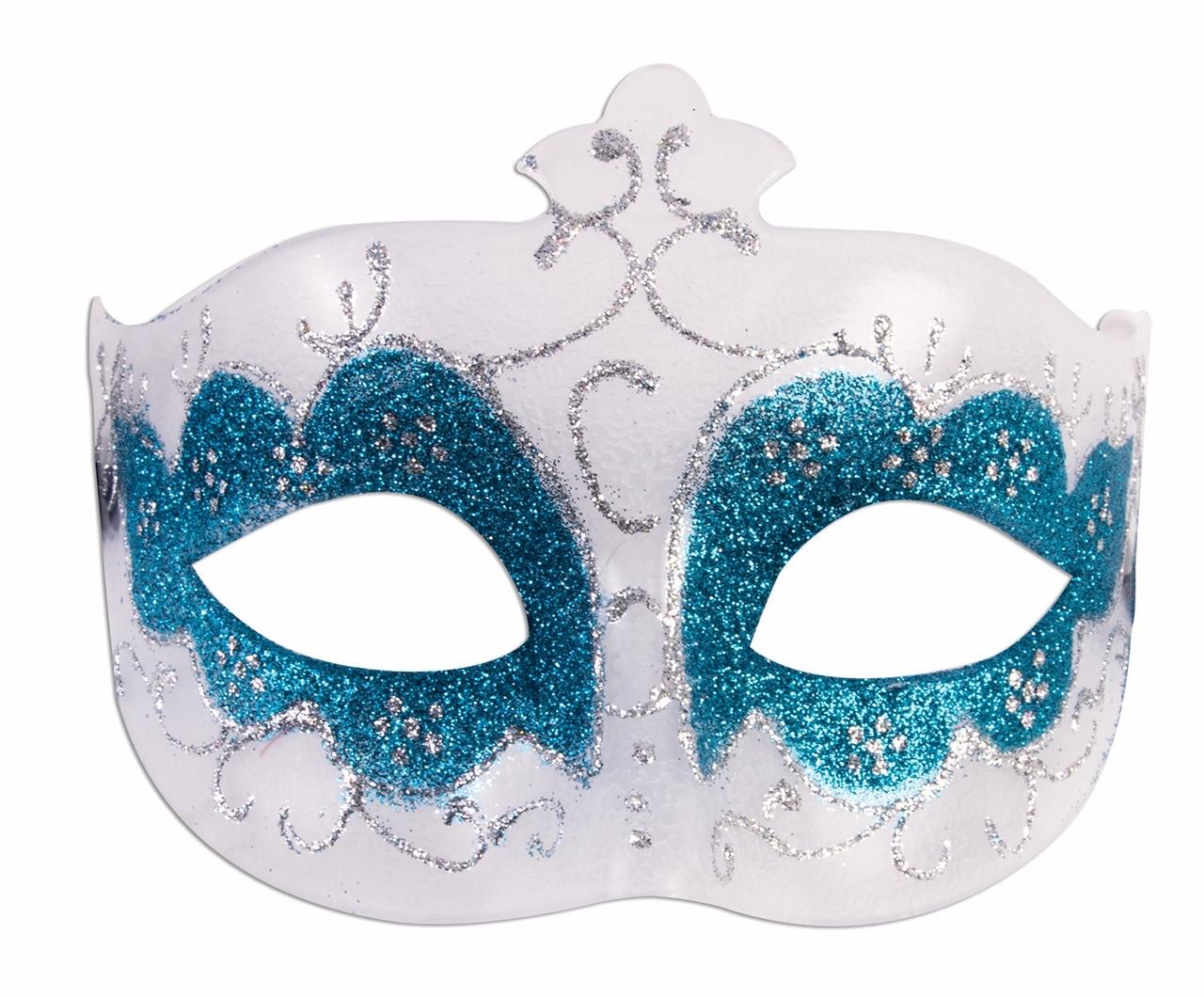Crystal Rhinestone Face Eye Mask Masquerade Ribbon Wavy Venetian Costume Party